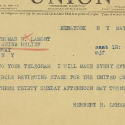 Telegram : 1941 May 24