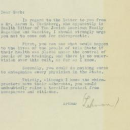 Letter : 1932 November 3