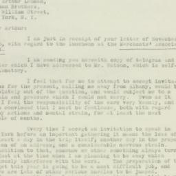 Letter : 1932 November 15