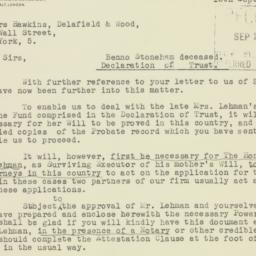 Letter : 1947 September 25