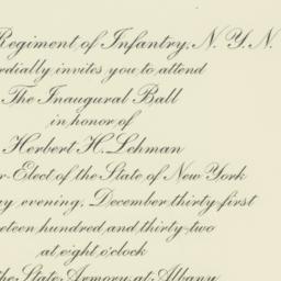 Invitation: 1932 December 31