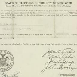 Certificate : 1928 April 10