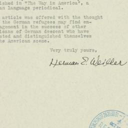 Ephemera : 1940 September 28