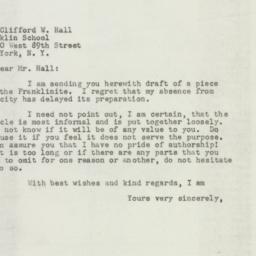 Manuscript: 1947 August 7