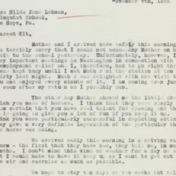 Letter : 1935 November 7