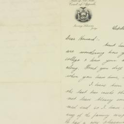 Letter: 1931 October 12