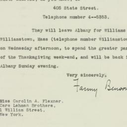 Letter: 1932 November 21