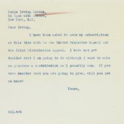 Letter: 1936 April 7