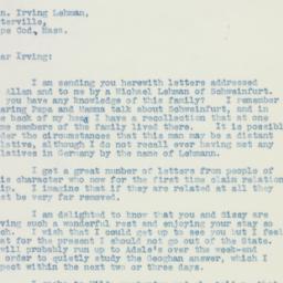 Letter: 1936 August 4