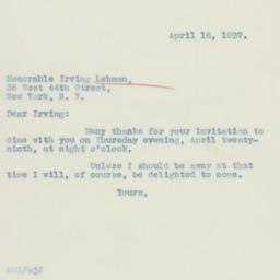 Letter: 1937 April 16