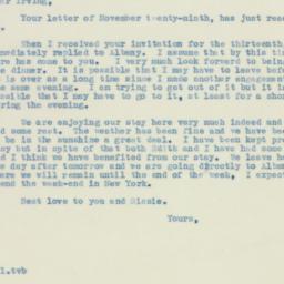 Letter: 1938 December 2