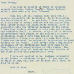 Letter: 1938 December 10