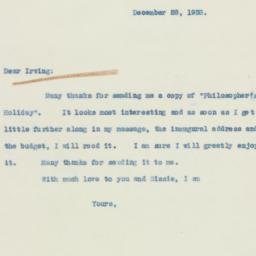 Letter: 1938 December 28