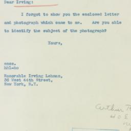 Invitation : 1940 November 6