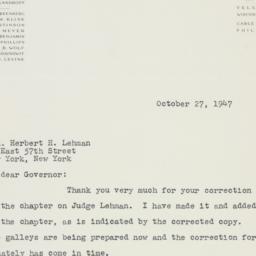 Manuscript: 1947 October 27