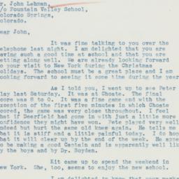 Letter : 1935 October 21