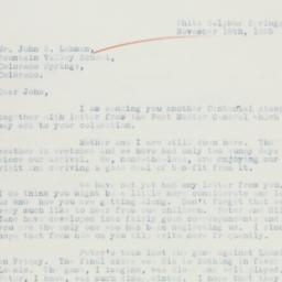 Letter : 1935 November 18