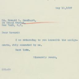 Letter: 1937 May 19