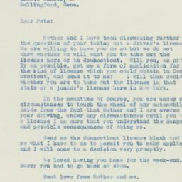Letter: 1933 August 21