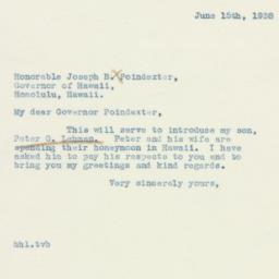 Press Release: 1938 June 15