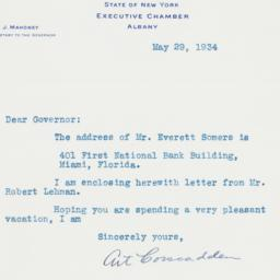 Letter : 1934 May 29