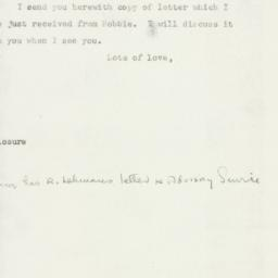 Letter : 1947 July 26