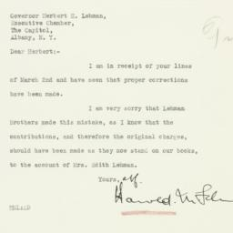 Letter : 1933 March 3