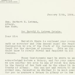 Letter: 1934 January 13