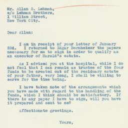 Letter: 1934 January 25