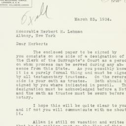 Letter: 1934 March 23