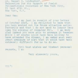 Letter : 1935 October 25