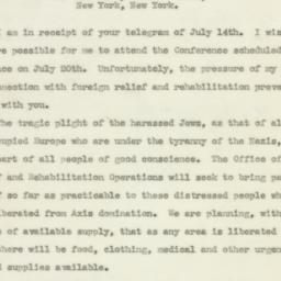 Letter : 1943 July 19