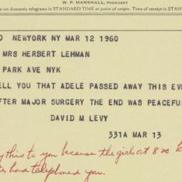 Invitation: 1960 March 12