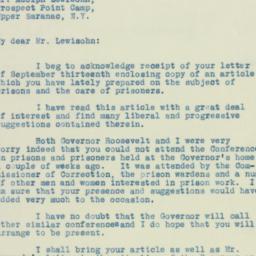 Letter : 1929 September 26