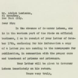 Letter : 1929 October 21