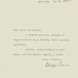 Letter : 1933 May 29