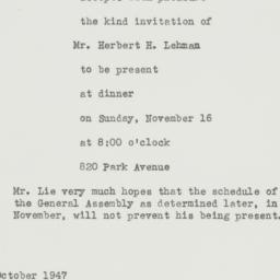 Letter : 1947 October 28