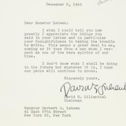 Letter : 1949 December 5