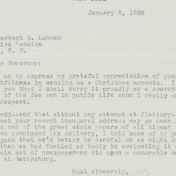 Letter : 1939 January 8
