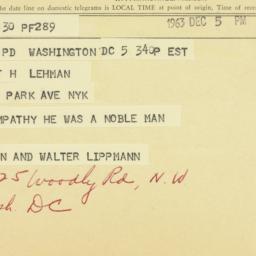 Letter : 1963 December 5