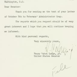 Letter : 1951 October 10