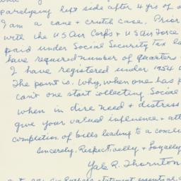 Letter : 1955 October 22
