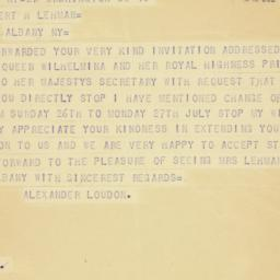 Telegram: 1942 July 11