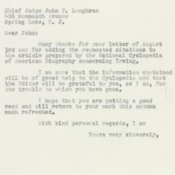 Letter : 1950 August 8