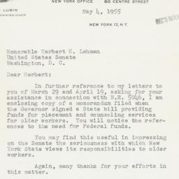 Letter : 1955 May 4