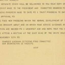 Telegram: 1947 November 4