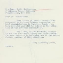 Letter : 1934 August 29