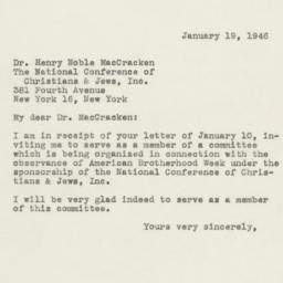 Letter : 1946 January 19