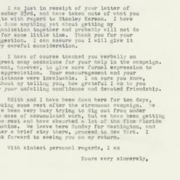 Letter: 1949 December 2