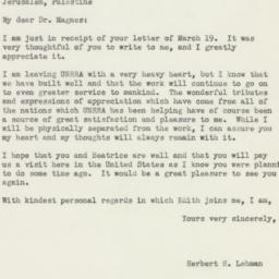 Letter : 1946 April 9